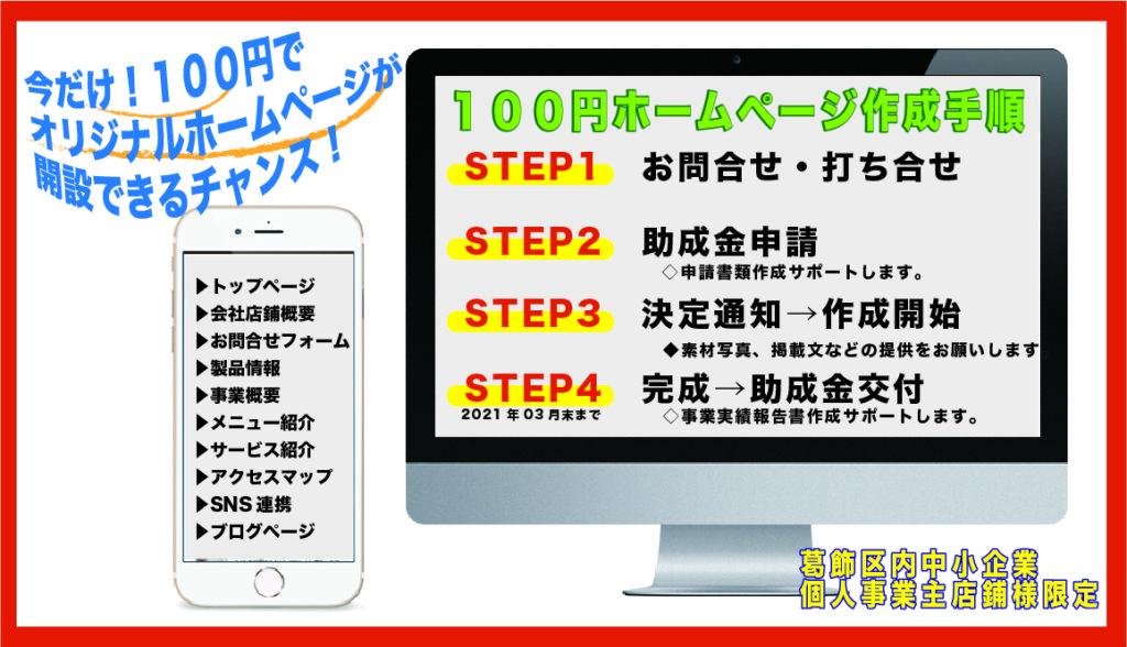 葛飾区ホームページ補助金助成金活用・・・自社オリジナルホームページ作成